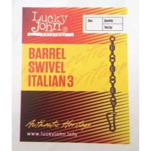 Вертлюжок-застёжка Lucky John BARREL SWIVEL ITALIAN 3