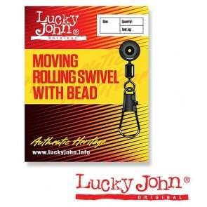 Вертлюжки-застёжки MH скользящие Lucky John MOVING ROLLING SWIVEL WITH HEAD