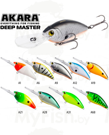 Воблер Akara Deep Master 60F 12 гр. (3/7 oz 3,5 in); DM, арт.: DM-SB-KVR