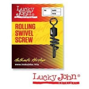 Вертлюжок-застёжка Lucky John ROLLING SWIVEL SCREW, 10 шт.