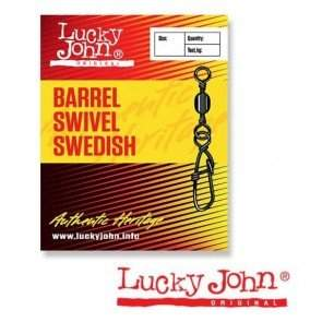 Вертлюжок-застёжка Lucky John BARREL SWIVEL SWEDISH